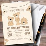 Cute Teddy Bears Invitations Baby Shower Invitations