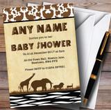 Jungle Safari Animal Print Invitations Baby Shower Invitations