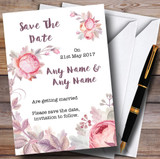 Beautiful Watercolour Floral Customised Wedding Save The Date Cards