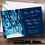 Blue Crystal Chandelier Customised Wedding Save The Date Cards