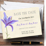 Purple Lily Vintage Customised Wedding Save The Date Cards