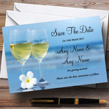 Wine On The Beach Customised Wedding Save The Date Cards