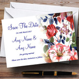 Pretty Blue Vintage Floral Customised Wedding Save The Date Cards
