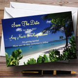 Thailand Beach Palm Tree Customised Wedding Save The Date Cards