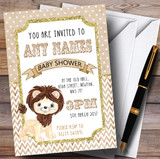 Lion Glitter Gold Invitations Baby Shower Invitations
