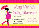Pink Polkadot Customised Baby Shower Invitations