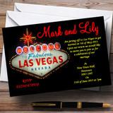 Las Vegas Sign Fabulous Customised Wedding Invitations