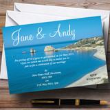 Cyprus Beach Jetting Off Abroad Customised Wedding Invitations