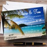 Palm Tree Beach Jetting Off Abroad Customised Wedding Invitations