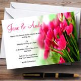 Hot Pink Tulips Customised Wedding Invitations