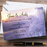 Winter Scene Beautiful Customised Wedding Invitations