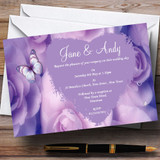Lilac Lavender Butterfly Customised Wedding Invitations