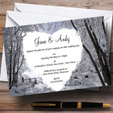 Winter Wedding Snow Scene Customised Wedding Invitations