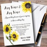 Stunning Watercolour Sunflower Customised Wedding Invitations