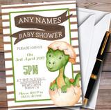 Boys Baby Dinosaur Customised Baby Shower Invitations