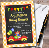 Clown In Car Customised Baby Shower Invitations