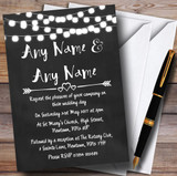Chalk Style and Lights Watercolour Customised Wedding Invitations