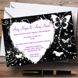 Black White Butterfly Customised Wedding Invitations