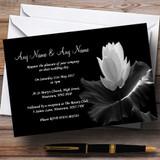Beautiful Black White Flower Customised Wedding Invitations