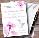 Beautiful Dusty Rose Pink Watercolour Flowers Customised Wedding Invitations