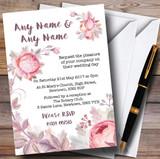 Beautiful Watercolour Floral Customised Wedding Invitations