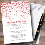 Red Heart Confetti Customised Wedding Invitations