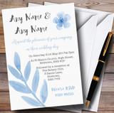Watercolour Subtle Powder Baby Blue Customised Wedding Invitations