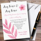 Watercolour Subtle Dusty Pink Customised Wedding Invitations