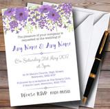 Watercolour Floral Purple Customised Wedding Invitations