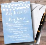 Powder Blue Lights Watercolour Customised Wedding Invitations