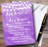 Purple and Lights Watercolour Customised Wedding Invitations