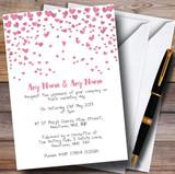 Pink Heart Confetti Customised Wedding Invitations