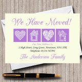 Pale Yellow And Lilac New Home Change Of Address Moving House Cards