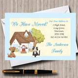 Dog And Cat New Home Change Of Address Moving House Cards