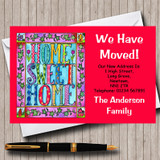 Red Home Sweet Home New Home Change Of Address Moving House Cards