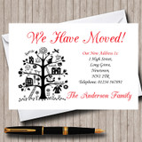 Red White And Black New Home Change Of Address Moving House Cards