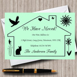 Green Design New Home Change Of Address Moving House Cards