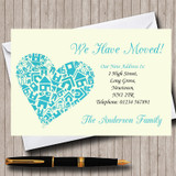 Heart New Home Change Of Address Moving House Cards