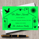 Lime Green Design New Home Change Of Address Moving House Cards
