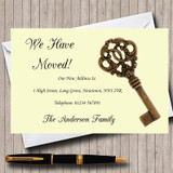 Old Key New Home Change Of Address Moving House Cards