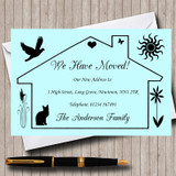 Blue Design New Home Change Of Address Moving House Cards