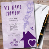 Purple Heart House New Home Change Of Address Moving House Cards