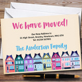 Colourful Houses New Home Change Of Address Moving House Cards