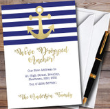 Dropped Anchor New Home Change Of Address Moving House Cards
