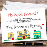 Doodle Houses New Home Change Of Address Moving House Cards