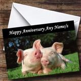 Pig Customised Anniversary Card
