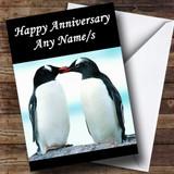 Penguins Customised Anniversary Card