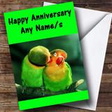 Parrots Customised Anniversary Card