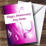 Purple Love Customised Anniversary Card