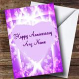 Pink & Purple Hearts Customised Anniversary Card